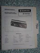 Sanyo M-W705 MW705 service manual original repair book stereo boombox radio