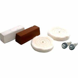 6pc Buffing Wheels Rouge Polish Kit Jewelry Polishing Tools