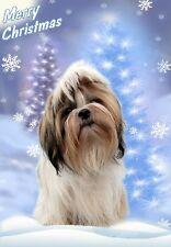 Shih Tzu Dog A6 Christmas Card Design XSHIH-14 by paws2print
