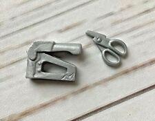 MONSTER HIGH ~ Frankie Stein Mirror Bed Accessories Silver Scissors & Staple Gun