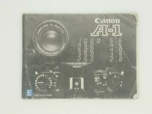 Canon A1 Manual Booklet Instruction book