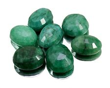 100ct /7pcs Natural Green Emerald Faceted Loose Gemstones Wholesale Lot