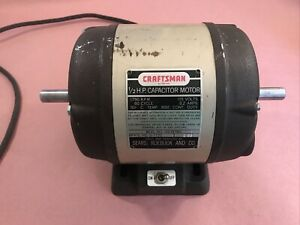 Craftsman Dunlap 150 Drill Press Dual Shaft Motor 1/2 HP 1750 RPM