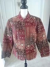 Molly & Max Women's 1X Tapestry Jacket Multi Color Long Sleeve Zipper Front NWOT