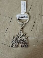 Disney Parks Silver Castle Keychain