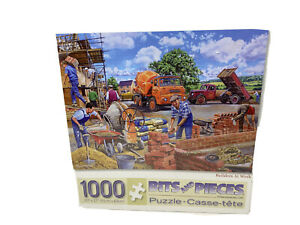 Builders At Work . Bits and Pieces Puzzles 1000 pc  Trevor Mitchell