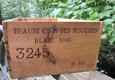 Vintage Wine Wood Crate 1985  France Blanc Joseph Drouhin Dreyfus Ashby New York