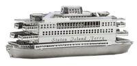 Tenyo Metallic Nano Puzzle Staten Island Ferry Model Kit NEW from Japan