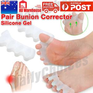 Toe Bunion Gel Separator Straightener Silicone Corrector Relief Pain Spacer