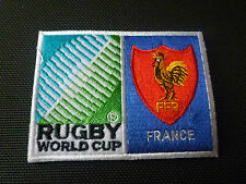Nouveau Coupe du monde de rugby badge-Coudre Sur Patch-France 10 cm x 7.5 cm