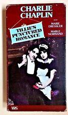 Tillie's Punctured Romance (1985 VHS Playtested) Charlie Chaplin Marie Dressler