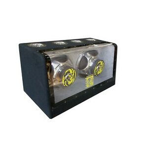 "1x Audiotek1200 WATTS  Dual 8"" Car Audio Subwoofers w/Bandpass Box"