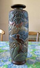 """vase en grès Mougin à Nancy, modèle de Goor à décor """"pousse pousse"""""""