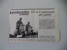 advertising Pubblicità 1963 LAMBRETTA 175 TV