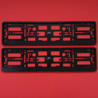 NEW 2x BLACK NUMBER PLATE SURROUND HOLDER FRAME FOR AUDI CAR A3 A4 A5 A6 A8