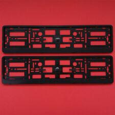 NUOVO 2x nero numero targa Surround cornice supporto per auto AUDI A3 A4 A5 A6 A8