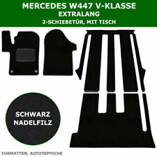 Apto para mercedes V-Klasse w447 extra largo 2-puerta corredera, mesa-frase fussmatt