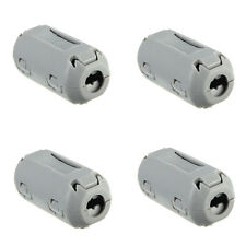 5pcs 9mm Noise Suppressor EMI RFI Clip Choke Ferrite Core Cable Filter Grey STUK