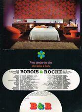 L- Publicité Advertising 1969 Mobilier Meubles Chambre à coucher Bobois & Roche