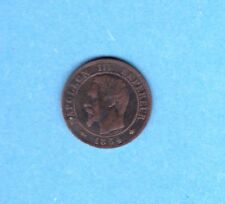 (BR.20) 1 CENTIME NAPOLÉON III TÊTE NUE 1854 BB STRASBOURG (TTB)