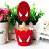 24pcs Spiderman Party Paper Cupcake Wrappers Toppers for Kid Birthday Decoration