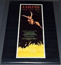 TARZAN THE APE MAN 21x33 MOVIE POSTER! JOHNNY WEISSMULLER ADVENTURE CLASSIC!