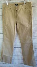 Womens J Crew Khaki Chino Wide Leg Sunwashed CityFit Slim 100% Cotton Size 4