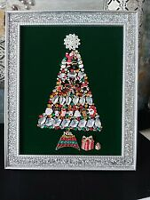 More details for bespoke jewelled handmade christmas tree picture