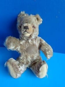 "VINTAGE 9"" MOHAIR TEDDY BEAR- HERMANN ZOTTY- GERMAN"