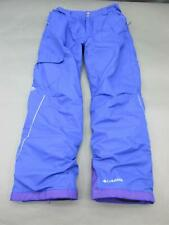 COLUMBIA SIZE L (14-16) GIRLS YOUTH BLUE OMNI-HEAT OUTGROWN SNOW PANTS 735