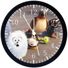 The Secret Life of Pets Black Frame Wall Clock Nice For Decor or Gifts E316