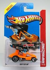 Hot Wheels 2013 #127 Dirty Outlaw™ ORANGE+BLACK,5SP,GREY METAL BASE,INTL,COOL!