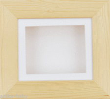 Natural Pine White Deep Box Display Frame 2D 3D Art Casts Medals Crafts Objects