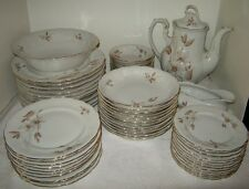 Crown Heiden Lot of 58 Pcs. Dinner Salad Bread, Scallop Floral with Gold Trim