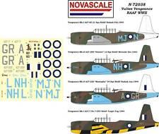 RAAF Vultee Vengeance WWII Decals 1/72 Scale N72038