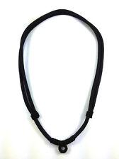 """Thai Buddha Buddhist Amulet Handmade Pendant Black Necklace Rope 1 hook 28"""""""