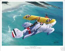 Grumman J2F Duck  Flying Boat WWII Aviation Art Print