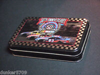 NASCAR 50TH ANNIVERSARY DOUBLE DECK PLAYING CARDS W/COLLECTIBLE TIN LIMITED ED