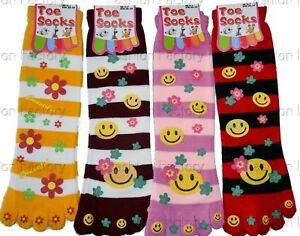 3 Pairs Women Ladies Girls Warm Winter Cosy Toe Socks Stripes Smiley Face UK 4-7