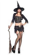 Leg Avenue Mystical Witch Costume 83428 Black/Gold Large