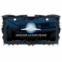 United Pacific TRIBAL FLAME LICENSE PLATE FRAME - BLACK, Model 50114
