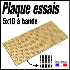 922D# plaque d'essais à bande (segmentée)  format 5x10cm   -- breadboard PCB