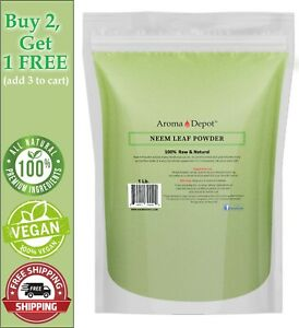1lb Neem Dried Leaf Powder Pure & Natural Raw  Vegan (Azadirachta indica)