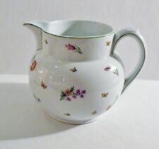 Tiffany Limoges France TIFFANY GARDEN 80 oz Pitcher MINT Flowers & Butterflies