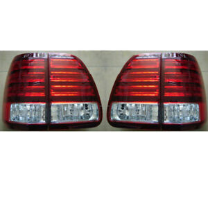 4Pcs For Lexus LX470 2003-2007 Inner+Outer LH+RH Sides Taillight Cover With LED