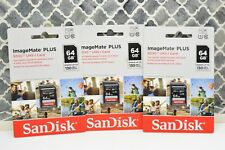 (3) SanDisk 64GB ImageMate Plus SDXC UHS-1 Memory Card - 130MB/s NEW!! Lot of 3