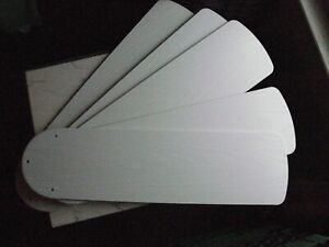 """LotG Set of 5 Ceiling 52"""" Fan Replace Blades Outdoor Plastic faux wood 3 15/16"""""""