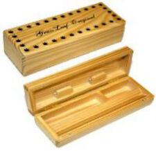 GRASSLEAF WOODEN ROLLING BOX SMOKING SMALL ORIGINAL CIGARETTE STASH BOX!