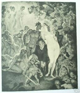 1977 1st NORMAN LINDSAY FAVOURITE ETCHINGS 100 FULL PAGE PLATES free EXPRESS W/W