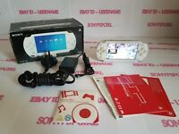 OFFICIAL CERAMIC WHITE SONY PSP 1003 CONSOLE MODDED + 128GB MEMORY - (BOXED)